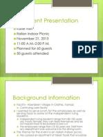 final event presentation