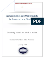 Increasing college opportunity for low-income students