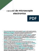 Tehnici de Microscopie Electronica