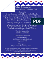 Reception for Mike Coffman