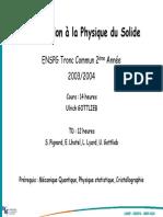 ENSPG 2A Physique Du Solide COURS 2004