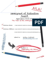 AILA Immigrant of Distinction Nomination Application 2014