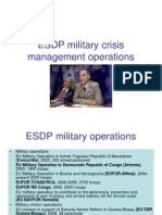 ESDP Military Crisis Management Operations