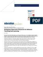 Analyzing Classroom Discourse