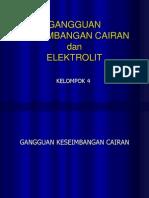 Gangguan Keseimbangan Elektrolit Kel 4