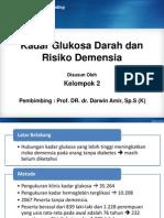 Hubungan Kadar Glukosa Darah Dengan Demensia