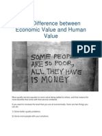 The Difference Between Economic Value and Human Value