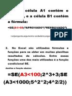 EXERCÍCIO FUNÇÃO SE