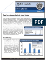 Fiscal Stress Summary Results School Districts