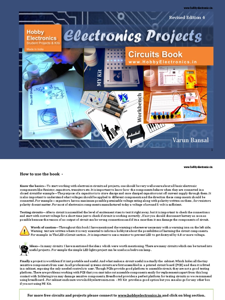 Electronics Project Book Revised Edition 4 Capacitor Electronic Circuits
