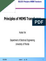 Principles of MEMS Transducers