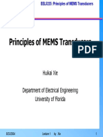 Principles of MEMS Transducers