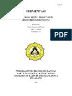 Laporan Praktikum Mikrobiologi Pangan - Fermentasi