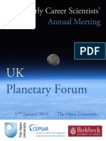 11th early career scientists meeting 2014 programme