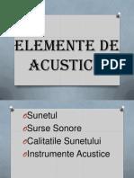 Elemente de Acustica