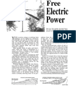 Free Electric Power Windmill