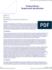 Writing Effective Requirements for Technical Specification