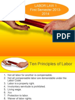 Labor Standards First Sem 2013-14