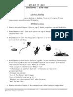 Adventures of Tom Sawyer Worksheet