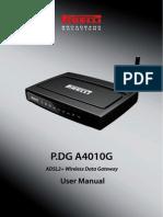 P.DG A4010G User Manual