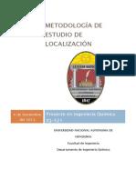 Metodos para determinar una localizacion