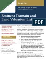 31st Annual Eminent Domain and Land Valuation Litigation, ALI-CLE Program (CV023) (Jan. 23-25, 2014) New Orleans
