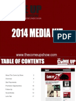 The Come Up Show Media Kit 2014