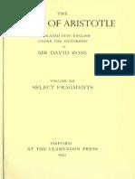 Aristotle 12 - Fragments - Ross