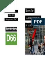 D66 Amsterdam Zuid English Manifesto 2014-2018