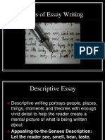 types of essay writing yes