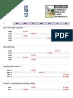2014 Spring Schedule Cresskill + ART