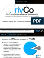PrivCo Financial Presentation 2014