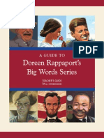 Teachers Guide to Doreen Rappaports Big Word Series