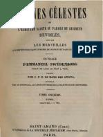 Em-Swedenborg-ARCANES-CELESTES-TomeOnzième-1sur2-Exode-I-IV-Numeros-6627-7079-LeBoysDesGuays-1847-91