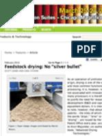 Feedstock Drying