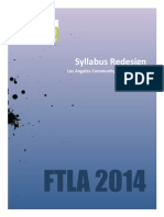 Faculty Handout Syllabus Redesign - FTLA 2014