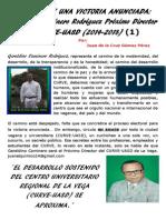 (1)CRÓNICA DE UNA VICTORIA ANUNCIADA, Geraldino Caminero Rodríguez, Próximo Director del CURVE-UASD, 2014-2018