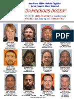 Northern Ohio Dangerous Dozen Most Wanted Fugitives - February 2014