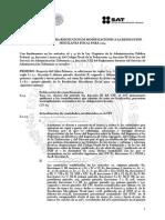 Proyecto de Primera Resolución de Modificaciones a la Resolución Miscelánea Fiscal para 2014
