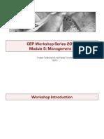 5. Management of CEP 1 Workshop 2013 (NXPowerLite)