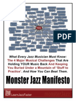 The Monster Jazz Manifesto