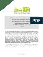 HUMAN DIGNITY AND HUMAN RIGHTS
