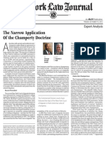 The Narrow Application of the Champerty Doctrine Hall NYLawJournal Oct12