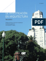 Anales de Investigacion en arquitectura 2012