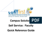 CUNY First Faculty Quick Reference Guide 2-1-2013