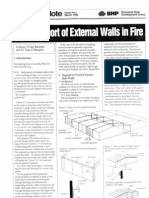 Support of External Walls in Fire