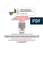 Prison Escapee Barnes Wanted Bulletin