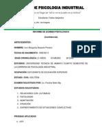 INFORME DE EXAMEN PSICOLÓGICO FINAL IVON