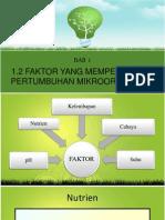 bab 1-1.2Faktor yang Mempengaruhi pertumbuhan mikroorganisma