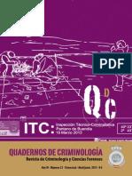 QUADERNOS DE CRIMINOLOGÍA NÚM. 21. Revista de Criminología y Ciencias Forenses, 2013